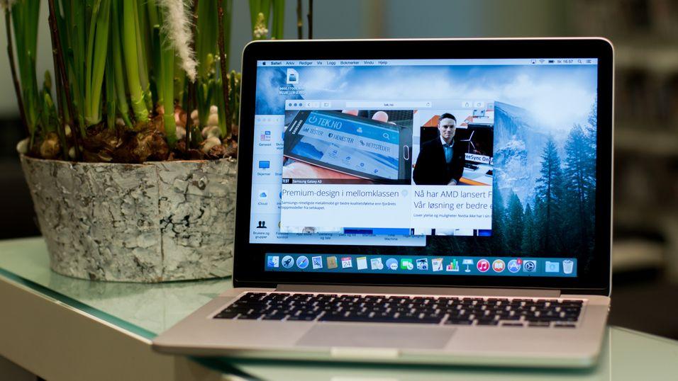 Apples bærbare skal kanskje få mobilnettstøtte. Dette er en MacBook Pro 13.