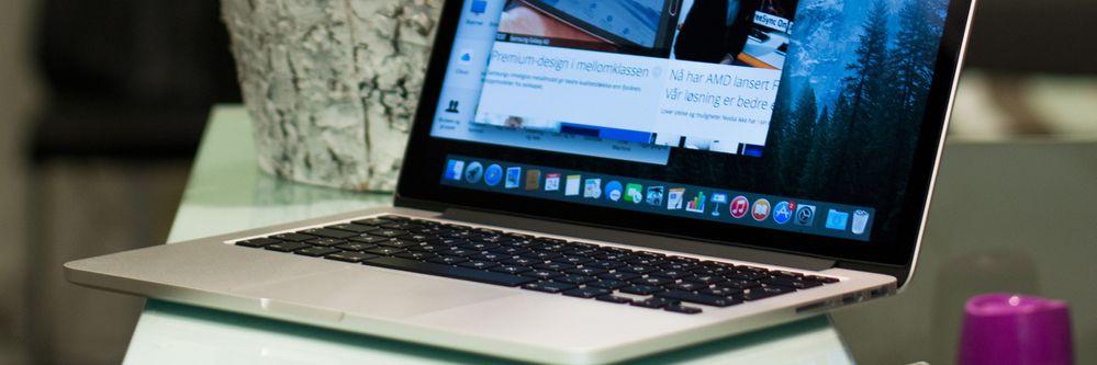 Apple MacBook Pro Retina 13 med «Force Touch» (Tidlig 2015)