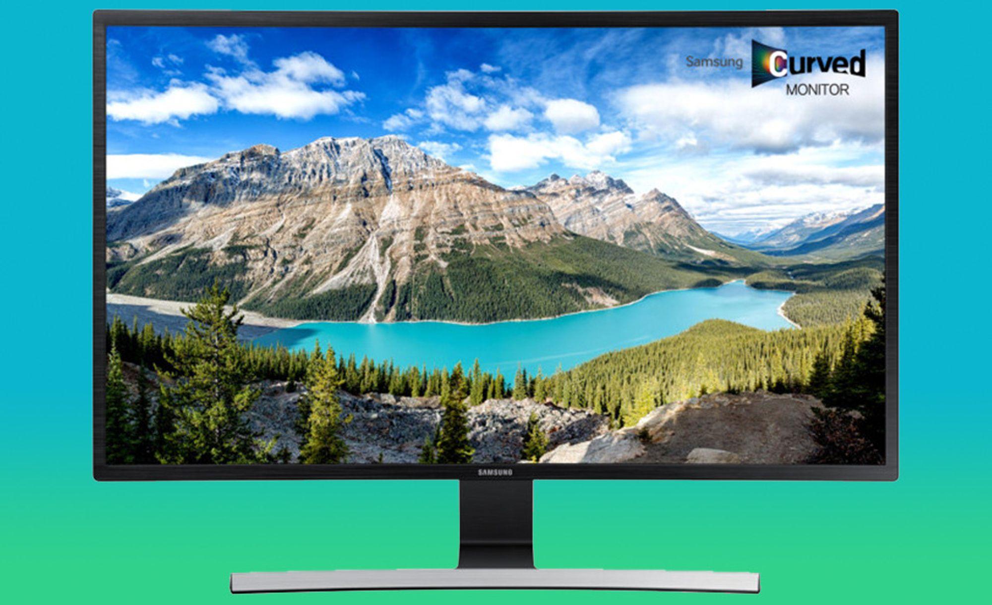 Samsung lanserer fem kurvede skjermer