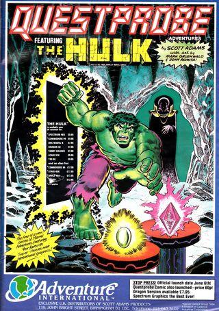 Scott Adams Questprobe-spill basert på Marvel-helter ble akkompagnert av egne tegneseriehefter.