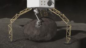 Dette romfartøyet skal plukke opp en passe stor asteroidestein.