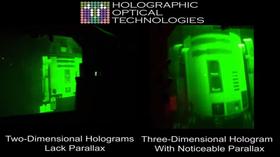 Hologrammene skal være tredimensjonale «skulpturer».