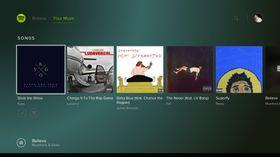 Slik skal det se ut når Spotify er i drift på PlayStation 4.
