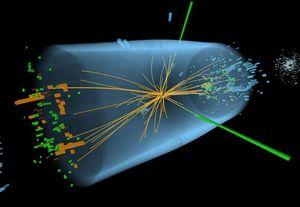 Slik ser det ut når partikler kollidere i LHC-maskinen.