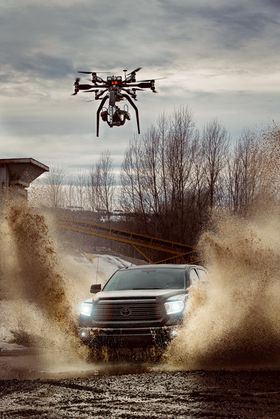 Videoen skal være den første som er filmet fra luften i 4K/1000 bilder per sekund.