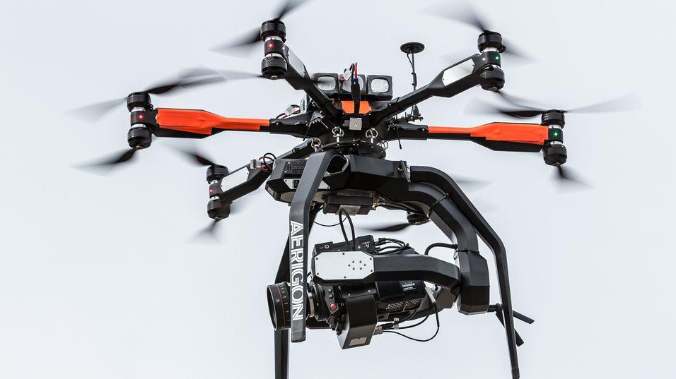 Aerigon-dronen med Phanton Flex 4K-kameraet om bord.