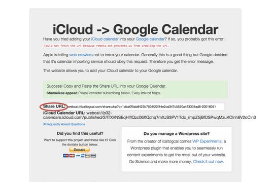 I denne eksterne siden kan du hente ut en URL som kan plottes inn i Google Calendar.