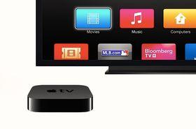 Via Apple TV og AirSync kan du strømme trådløst til storskjermen i stua.