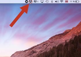 Dropbox gir deg en egen hurtigknapp i menylinjen øverst.
