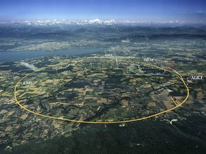 LHC er en massiv maskin. Den krysser grensen mellom to land fire ganger.
