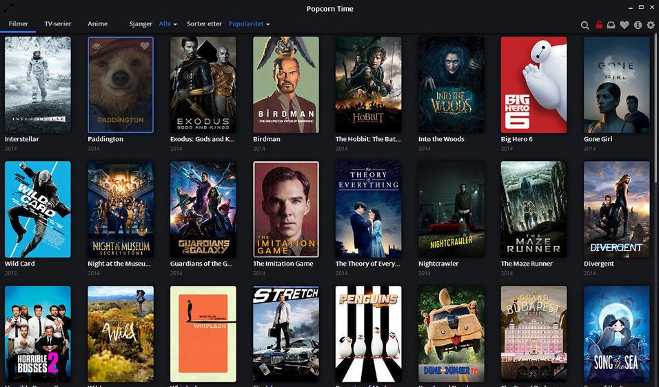 Popcorn Time er litt som Netflix, bare at den er gratis har et mye bedre utvalg. Rettighetsalliansen mener nå tjenesten er ulovlig, men det er ikke bruken av mange av konkurrentene.