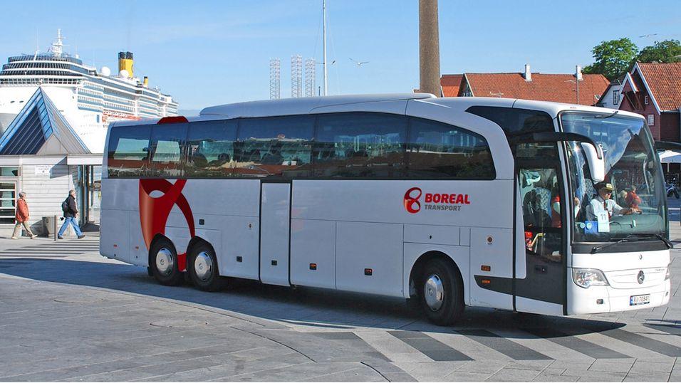 Illustrasjonsbilde. Dette er ikke en av elbussene, men en annen buss fra Boreal Transport.