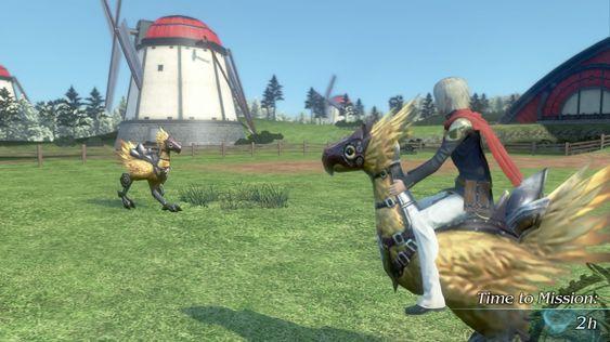 Chocoboer kan ales opp og brukes til å ta seg raskere fram i verdenen.