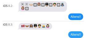 Hvis du ikke oppdaterer til iOS 8.3, vil nye ikoner se ut som romvesener.