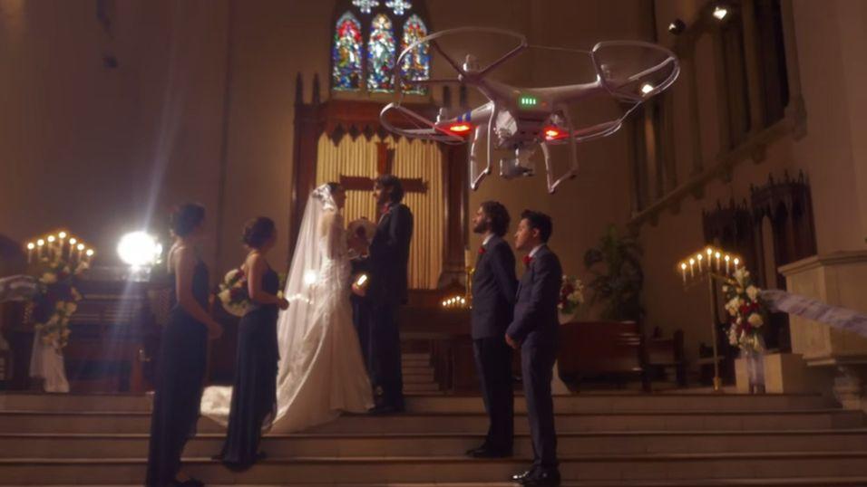 Slik mener DJI at du kan bruke deres nye drone til bryllupsfotografering
