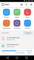 Mophie Space er en ryddig og funksjonsrik app.