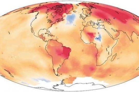 Dette kartet viser hvor havet varmes opp og hvor det kjøles ned. Det er tydelig at Nord-Atlanteren skiller seg ut her.
