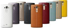 LG G4 kan leveres i mange ulike farger, med både lær og plastdeksler.