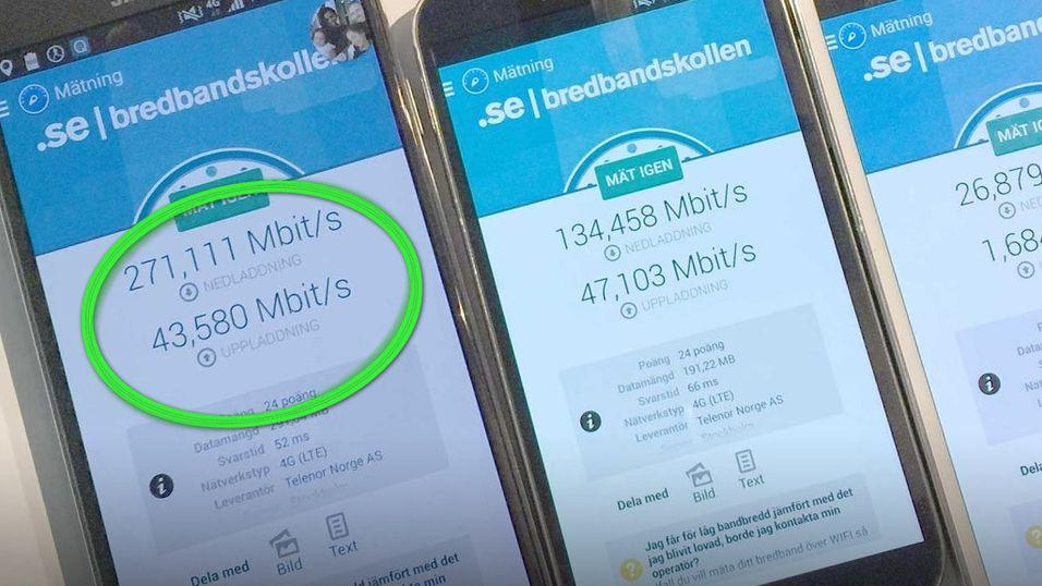 Sjekk om mobilen din kan få dobbel hastighet