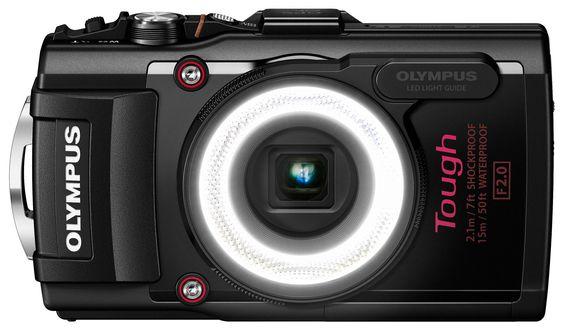 VANNTETT: Olympus lover at det nye allværskameraet Tough TG-4 skal kunne brukes ned til 15 meters dyp.