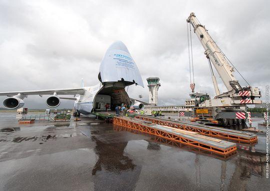 Thor ankom Frank Guyana med en Antonov.