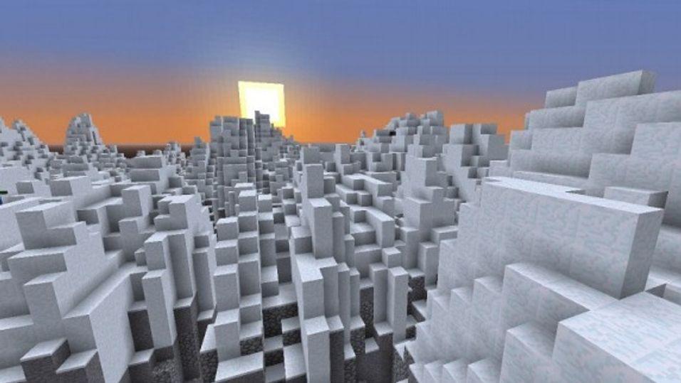 Hardangervidda i Minecraft.