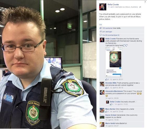 Lovens lange arm på Facebook.