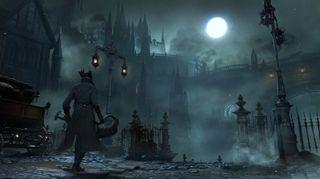 Mørket spiller en større rolle i Bloodborne enn i forgjengerne. Lampe eller fakkel er ofte livsviktig.