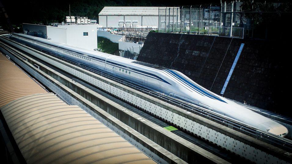 Japans nye svevetog satte en ny fartsrekord i dag.