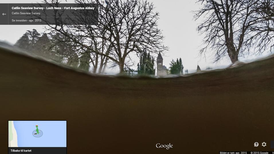 Street View lar deg nå gå under vann i Loch Ness.