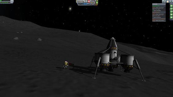 «Se, mamma, jeg er på månen!».
