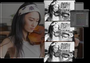 Ny funksjon for å lage svart/hvitt-bilder.