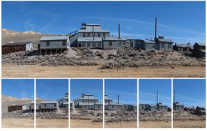 Panorama Merge-funksjonen kan samle flere bilder til ett panoramabilde.