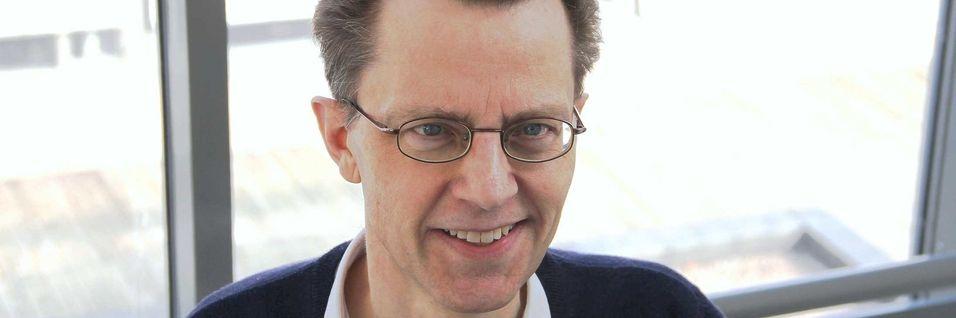 Seniorrådgiver Frode Sørensen i Nasjonal kommunikasjonsarbeid var sentral på pressekonferansen der Berec la fram nye retningslinjer for nettnøytralitet i EU/EØS-området.