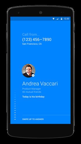 Appen gjør det enkelt å se hvem som ringer.