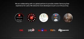Appene som er listet opp på utviklersiden.