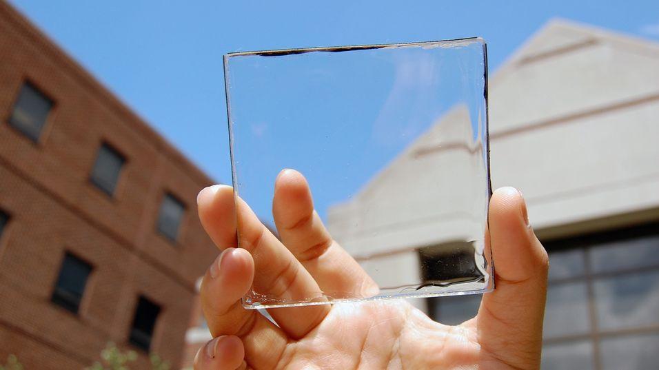 Dette glasset er imponerende nok også et solcellepanel.