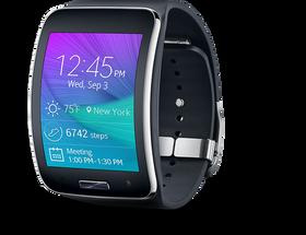 Gear S, en av Samsungs nåværende smartklokker.