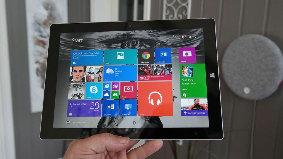 Microsoft skal snart stanse produksjonen av Surface 3.