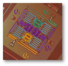 Slik ser de nye, kvadratiske kvantebrikkene til IBM ut.