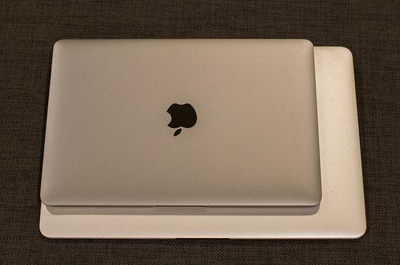 MacBook er mye mindre enn en MacBook Pro.