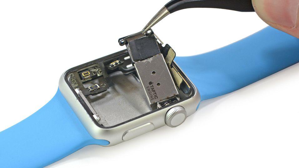 Denne delen her skal ha blitt gradvis dårligere i noen av Apple Watch-klokkene.