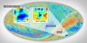 Dette varmekartet viser den kosmiske bakgrunnsstrålingen.