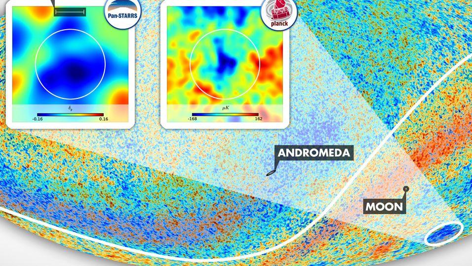 Forskere har funnet enormt tomrom i verdensrommet