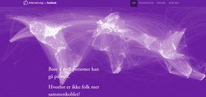 Illustrasjon over hvilke deler av verden som har tilgang til Internett.