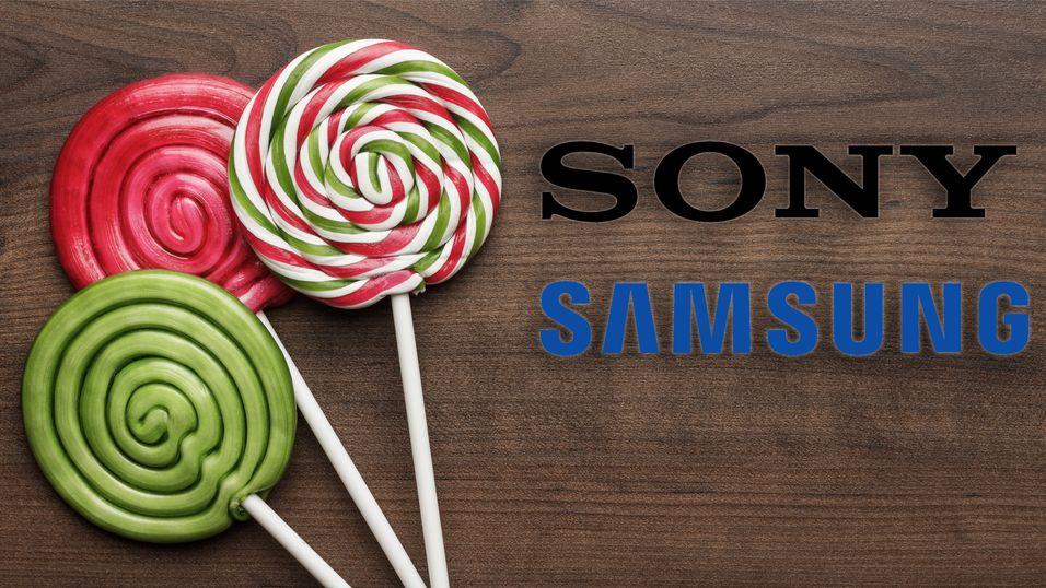 Nå får Samsung og Sonys eldre modeller også Lollipop