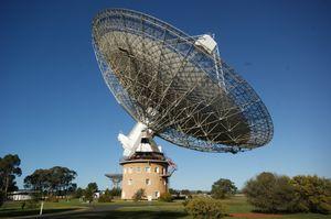 Den store radioantennen ved Parkes-observatoriet.