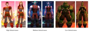 Forskerne brukte disse spillfigurene for å sjekke hvor lett det var å få hjelp. Resultat: Hvis du er grønn, og kvinne, må du klare deg selv.