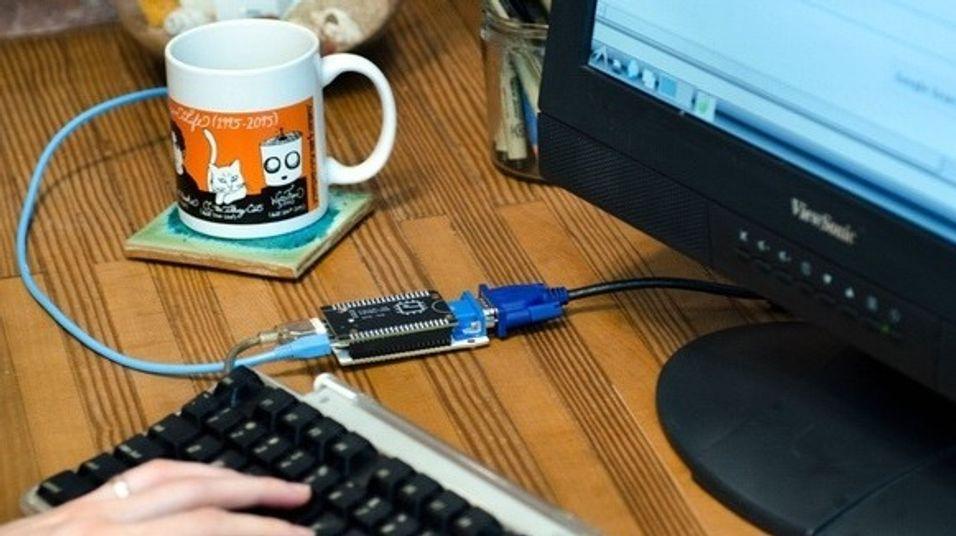 C.H.I.P er nesten mindre enn VGA-kontakten.