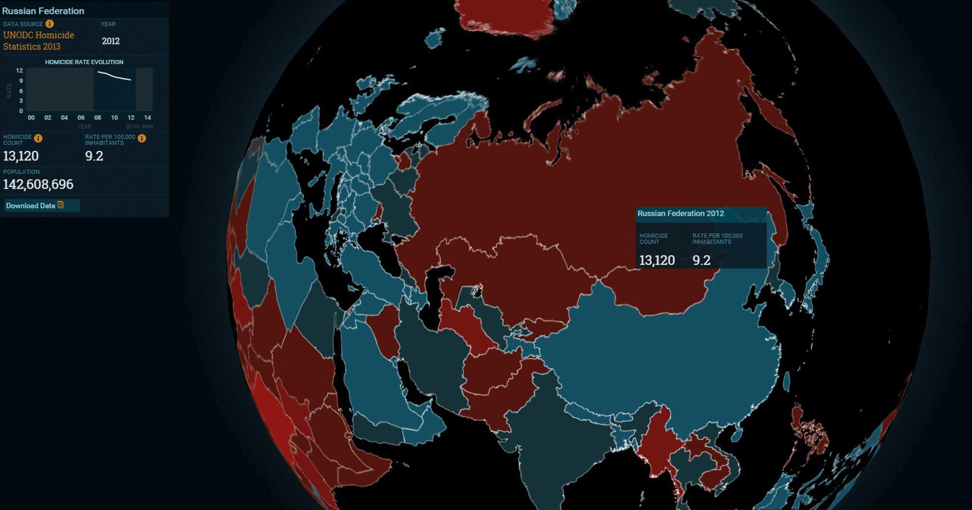 våpen per innbygger land